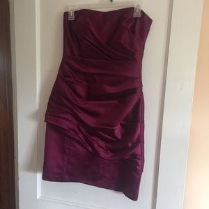 Wine colored homecoming dress